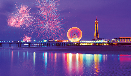 Image result for Beautiful fireworks over Blackpool images