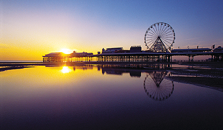 Blackpool Beach at sunset